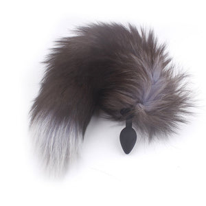"15"" Silicone Multicolored Fox Tail Plug"