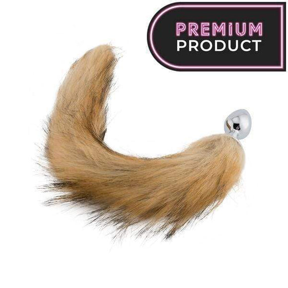 Fox Tail Metal Plug, Brown 18