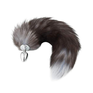 Fox Tail Plug, Gray 17""