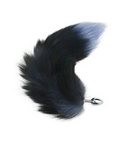 "15"" Stainless Steel Black Fox Tail Plug"