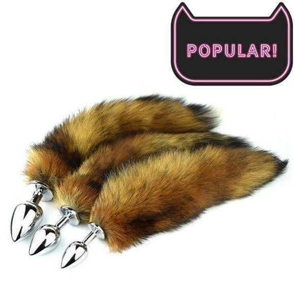 Fox Tail Plug, Brown 17