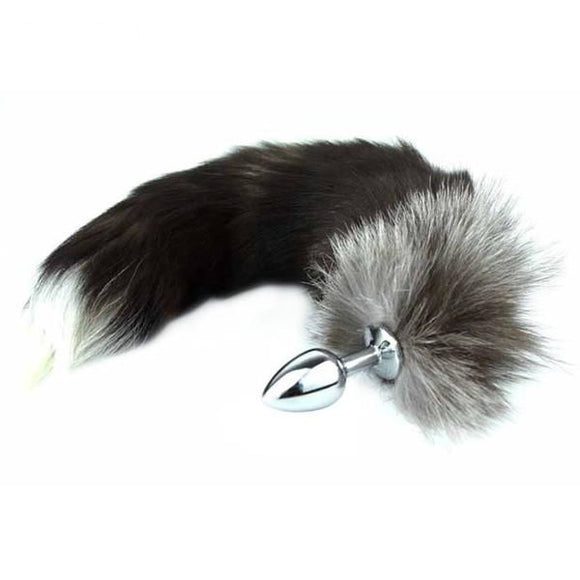 3 Sizes Stainless Steel Brown Fox Tail