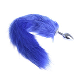 "14"" Stainless Steel Blue Faux Tail Plug"