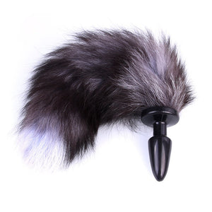 "13"" Silicone Black Faux Tail Plug"