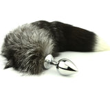 "14"" Stainless Steel Black Fox Tail Plug"