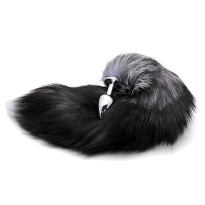 "17"" Stainless Steel Black Fox Tail Plug"
