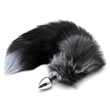 "17"" Stainless Steel Black Cat Tail Plug"