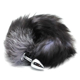 "16"" Stainless Steel Black & White Faux Tail Plug"