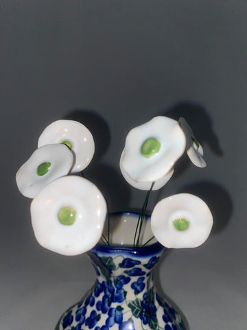 White Pottery Flower