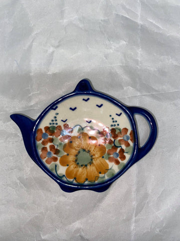 Orange Flower Teabag Holder