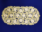 Green Cut Lace Daisy Linen