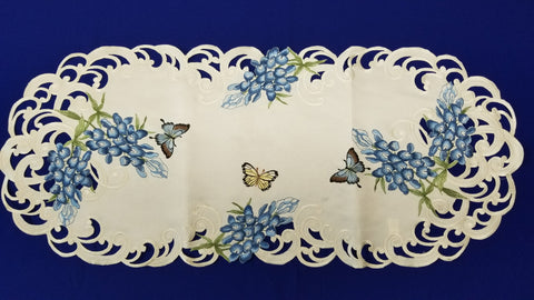 Butterfly Blue Bonnet Linen