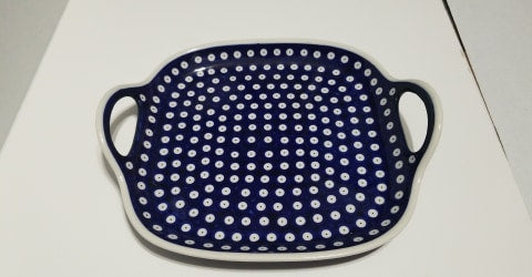 Owls Eye Two Handled Platter