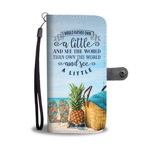 Own the World Wallet Phone Case