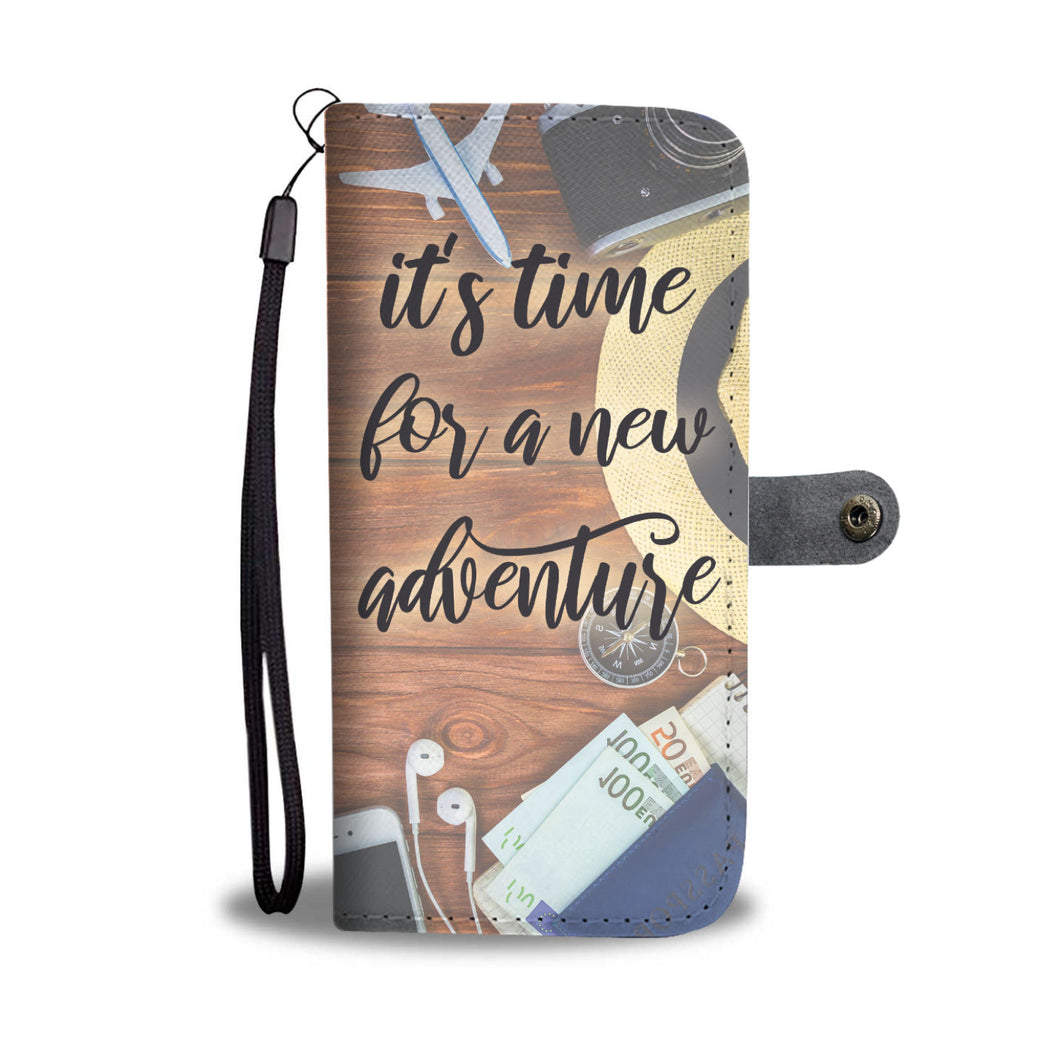 Time for a New Adventure Wallet Phone Case