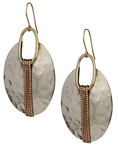 Oval Hammered Earrings - Fickleshop.com