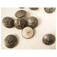 WWII Finnish Stone Grey Pebble Grain Tunic Button 21mm X12
