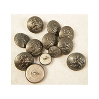 Finnish Stone Grey Pebble Grain Button 21mm X10 15mm X2