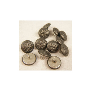 Finnish Stone Grey Pebble Grain Shoulder Button 15mm X12