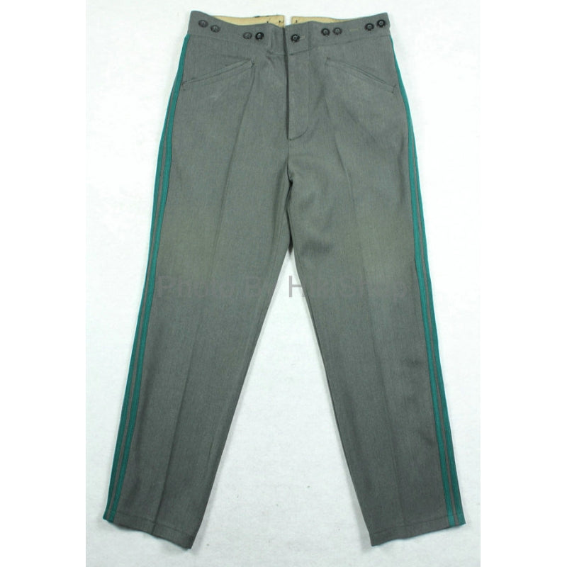 WWII Finland Finnish Stone Grey Gabardine Officer Trousers Pants
