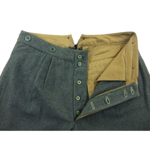 WW1 Italy Grey Green Wool Pants Pantalone