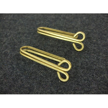 Load image into Gallery viewer, WWII World War 2 Finnish Brass Belt Hooks Reproduction