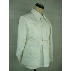 WWII WW2 Italy Italian M40 White Cotton Tunic