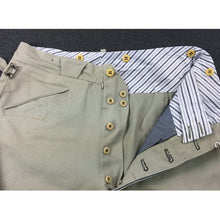 Load image into Gallery viewer, WW2 France French Officer Mastic Pants Breeches Heavy Cotton