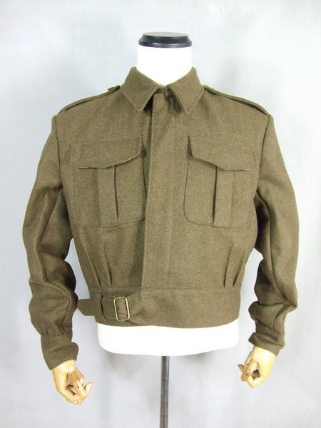 WWII Great Britain British Army P37 Battle Dress Uniform Wool Jacket Tunic