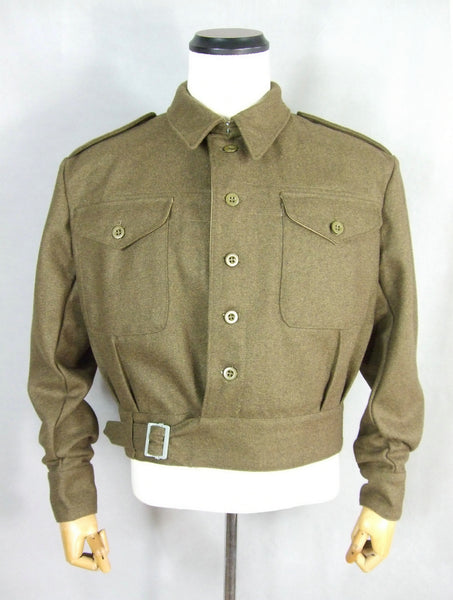 WWII Great Britain British Army P40 Battle Dress Uniform Wool Jacket Tunic