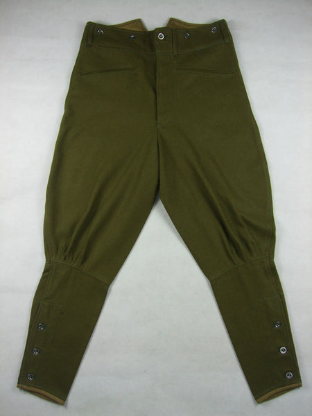 WWII Czechoslovak Green Wool VZ.21 VZ21 Field Pants Breeches