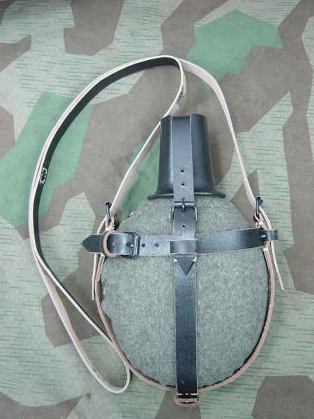 WWII German Medical Canteen Cover & Carry Strap Repro