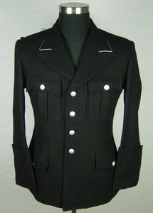 WWII German Elite M32 Officer Black Wool Tunic Jacket