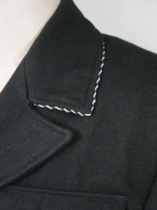 WWII German Elite M32 NCO Black Wool Jacket TOP