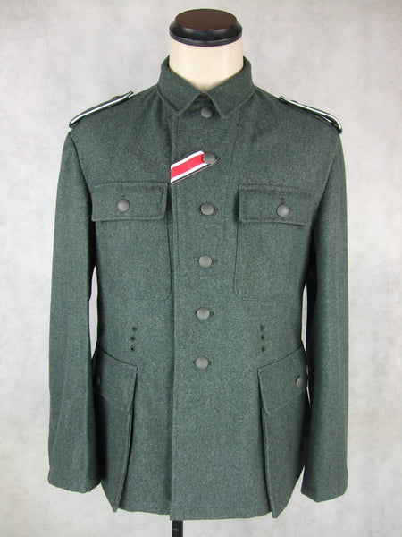 WWII World War 2 German M43 Field Tunic Grey Green Wool