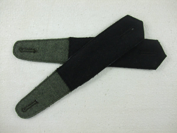 WW2 German Pre-War Early Shoulder Boards Plain Black