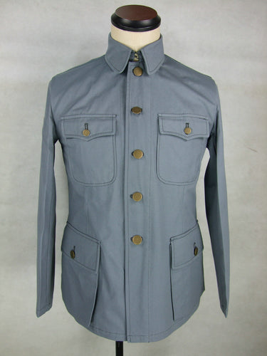 WW2 China Chinese Officer KMT Field Jacket Tunic Grey Gray