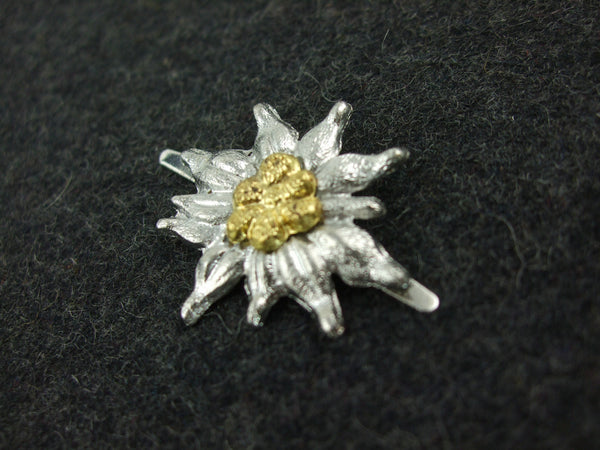 German WWII Edelweiss Insignia For Visor Cap