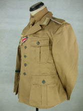 Load image into Gallery viewer, WWII German DAK Field Tunic Jacket With Insignia Sand