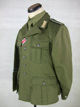 Load image into Gallery viewer, WWII German DAK Field Tunic Jacket With Insignia Green