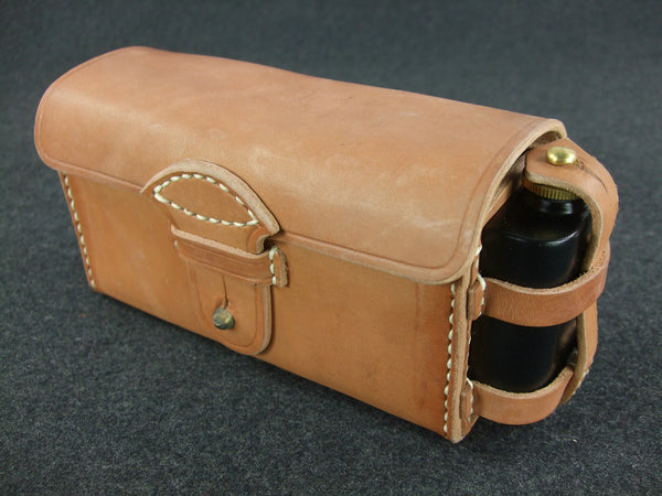 WWII IJA Rear Ammo Pouch + Oil Box