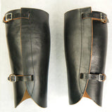 WW2 IJN Imperial Japanese Navy Officer Black Leather Leggings