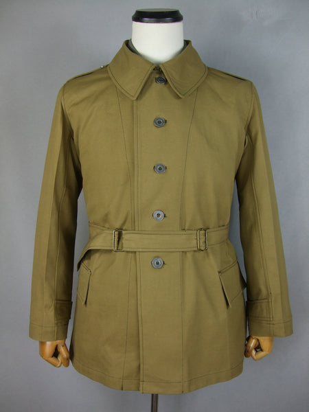 WWII France French Army Model 1938 Bourgeron Jacket Tan