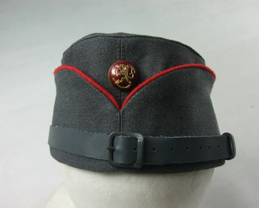 WW2 Finnish Artillery Officer Red Side Cap Without Badge