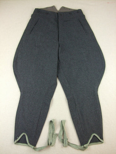 WW2 Finnish M36 Pussihousut Sarkaa Stonegrey Wool Field Breeches