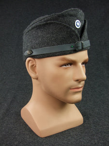 WW2 Finnish EM Soldier Side Cap With Badge Reproduction