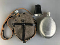 WWII German Medical Canteen, Cover, Carry Strap, Cup Set