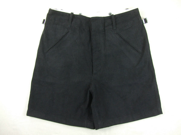 WWII German Youth Jugend HJ Shorts Black Cotton Corduroy