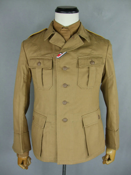 WW2 German LW Luftwaffe Tropic M41 Tunic Jacket