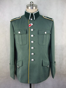 WWII German Wehrmacht WH Gabardine NCO Piped Dress Tunic Jacket